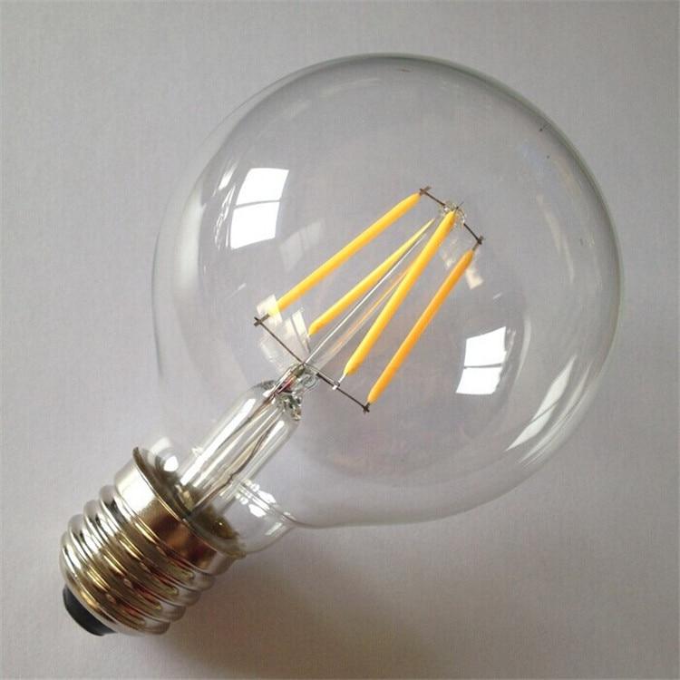 Dimmable G80 Cob Led Filament Bulb 3000k 6000k Led Candle Bulb 360 Degree Ac220v Free Shipping Lights & Lighting