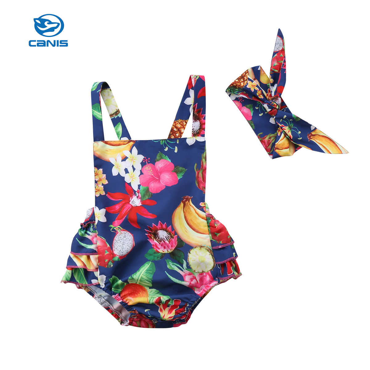 39c797c5ad39 Detail Feedback Questions about New Sweet Tropical Fruit Newborn Baby Girl  Clothes Flower Country Style Jumpsuit Romper Outfits 0 24M on  Aliexpress.com ...