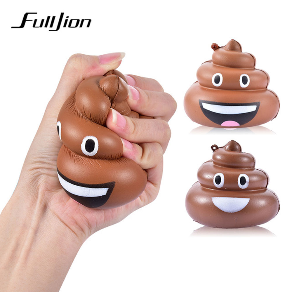 Fulljion Antistress Squishy Poop Squishe Novelty Gag Toys Gags Practical Jokes Stress Relief Toys For Children Fun Popular Gifts