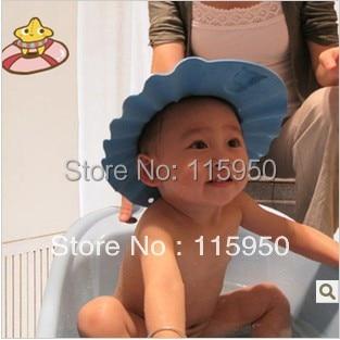FREE SHIPPING Baby Shower Cap Shampoo Visor Bath Yellow Pink