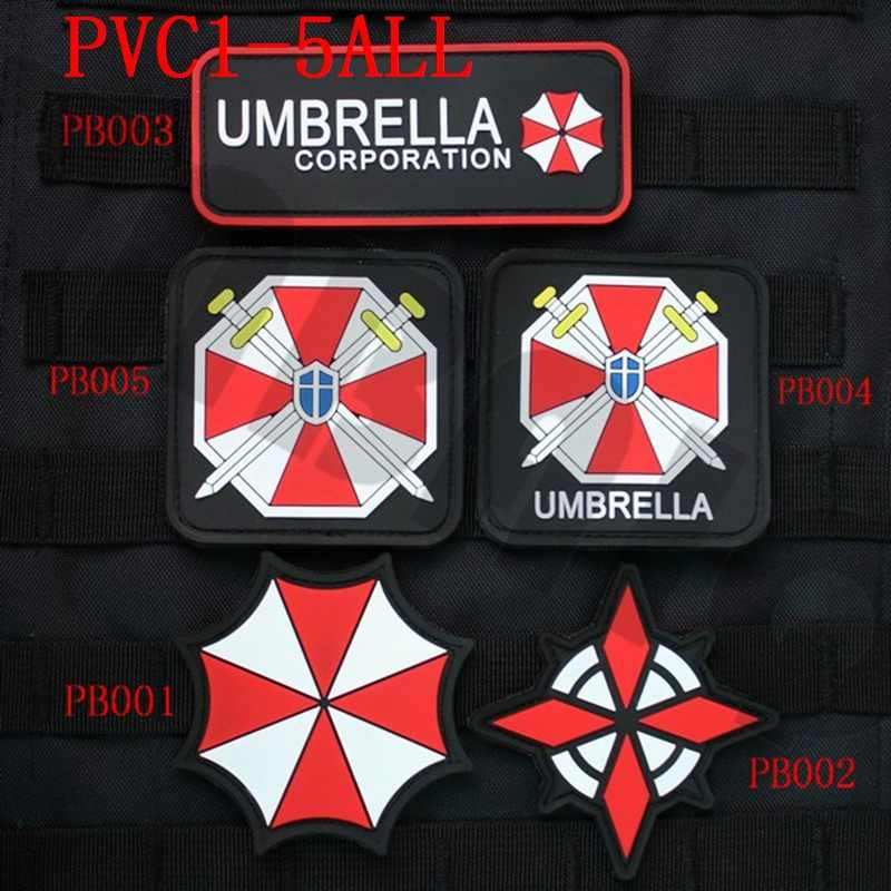 3D Pvc Patch Biohazard Payung Corporation U.b.c.s Patch Karet