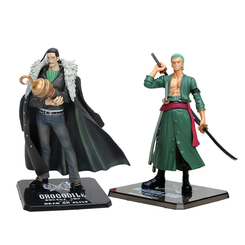15cm Japanese Anime One Piece Roronao Zoro Sir Crocodile Two Years Later PVC Action Figures Toy Doll Model Collection