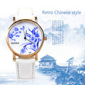 Vintage Chinese Style Watches Women Classical Blue and White Porcelain Female Clock Ladies Quartz Watch Montre Femme Relojes