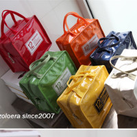 Recommended beautiful candy colors (9 colors) PU leather Waterproof insulated Freezing lunch bag insulation bag