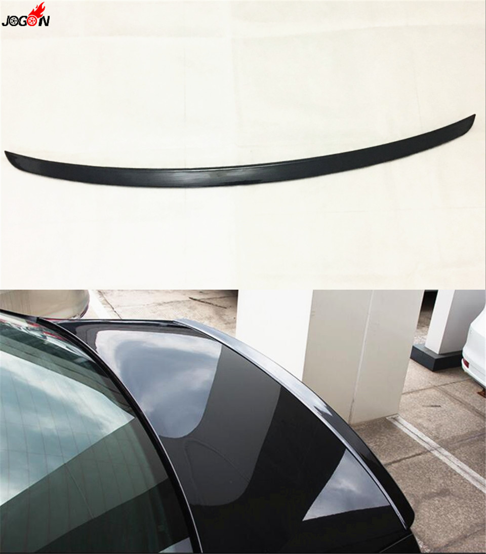 Rear Trunk Spoiler Wing Cover For VW Volkswagen Passat B8 2016 2017 Sedan Black Color car rear trunk security shield cargo cover for volkswagen vw tiguan 2016 2017 2018 high qualit black beige auto accessories
