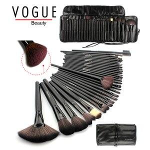 Кисти для макияжа, 32 шт., набор кистей для макияжа pincel de maquiagem, Профессиональный набор кистей для макияжа волос, набор инструментов, черный ко...