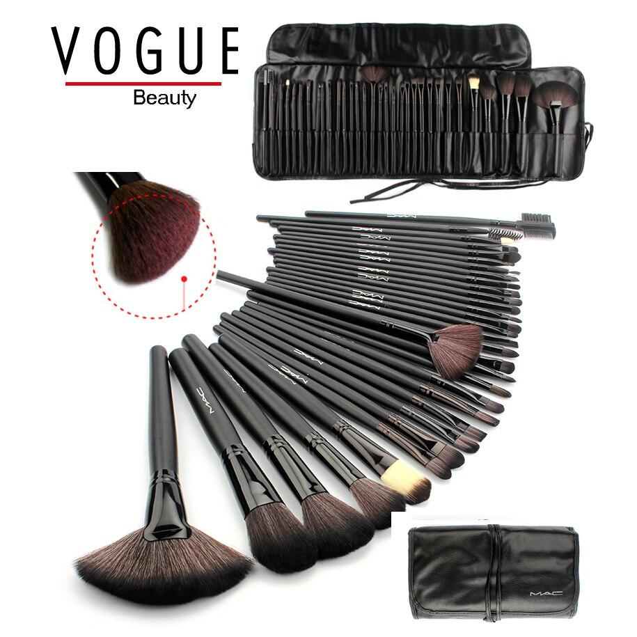 makeup brushes 32 PCS pincel de maquiagem make up brushes professional hair makeup brush set tool kits Black Leather Bag Holder