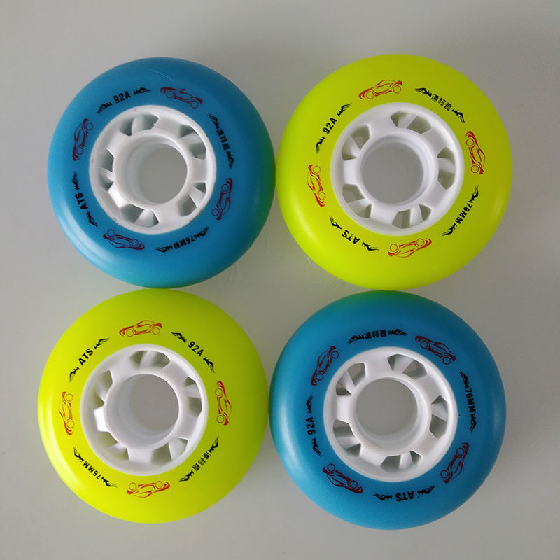 Prix pour Livraison gratuite rouleau roues freinage roues 72 76 80mm PU 92A recommander roues