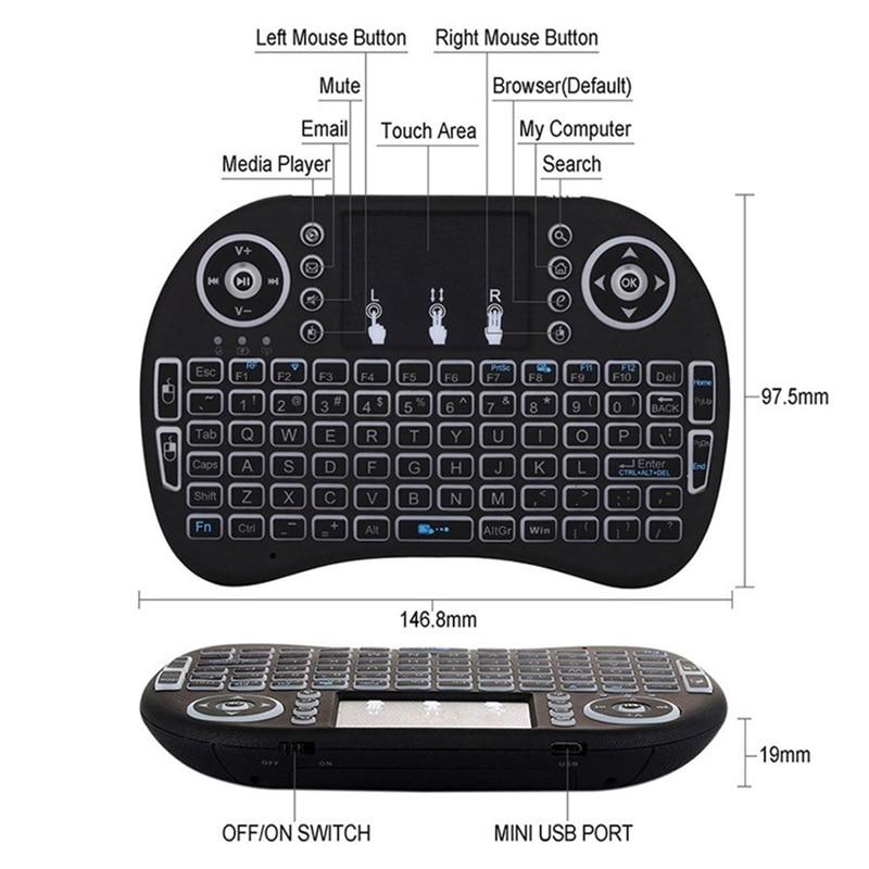 Venemaa / Inglise 2.4GHz traadita taustvalgustuse klaviatuur hiire - Arvuti välisseadmed - Foto 4