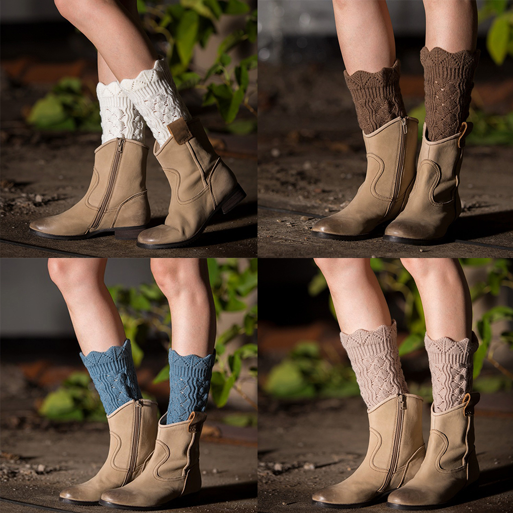 Women's Socks & Hosiery Spirited 1 Pair Cute Soft Lace Women Girl Winter Leg Warmers Acrylon Crochet Hollow Knit Boot Socks Toppers Cuffs Strengthening Waist And Sinews