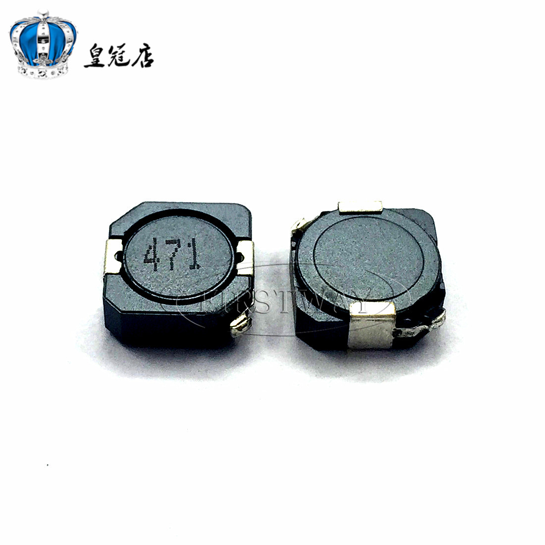 10pcsSMD power inductors CDRH104R 470UH 0.6A word:471 MS104R 10*10*4MM Shielding inductance