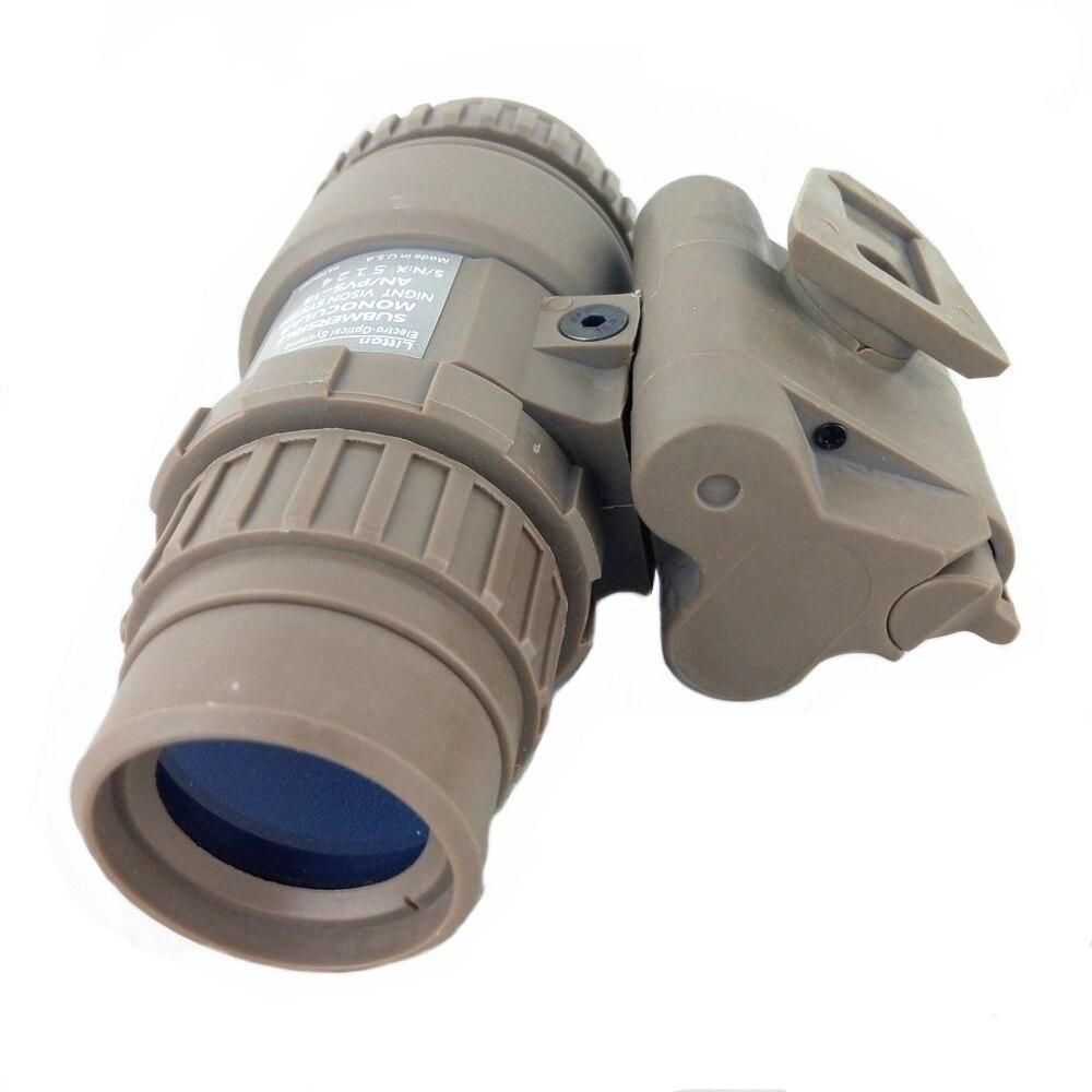Tactical Dummy Night Vision Helmet Parts AN PVS18 PVS-18 NVG No Function Model Airsoft Toy DE
