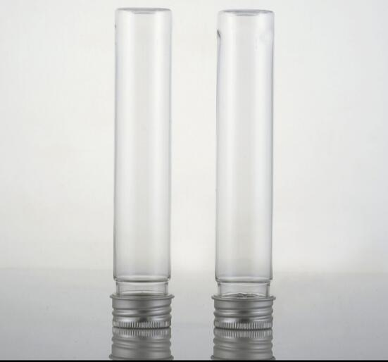 10pcslot 65ml bath salt tube with aluminum cap, plastic cosmetic tube, sugar, candy packaging containers