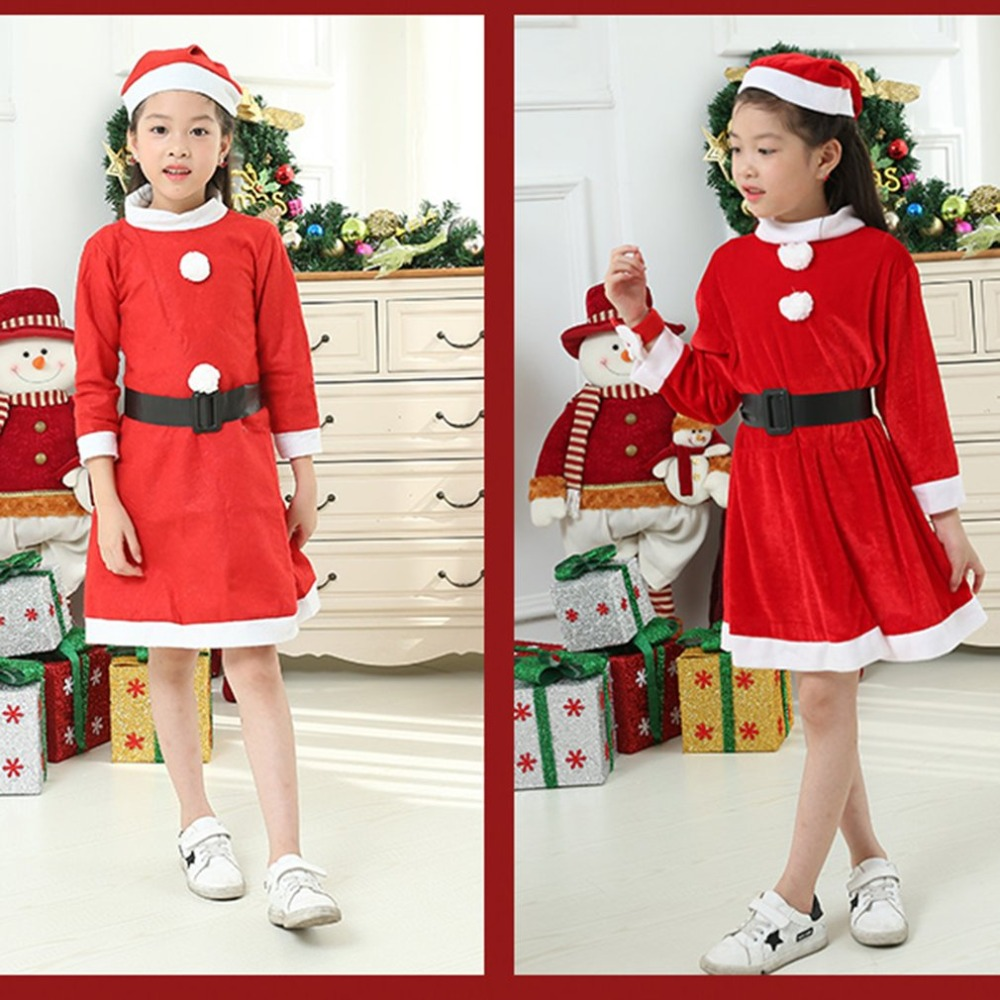 2018 New Christmas Child Safety Protective Warm Clothing Set Child Boy Girl Warm Red Santa Claus Christmas Costume new christmas caps funny red white fashion adult santa claus skullies cotton blend xmas beanies christmas costume unisex caps