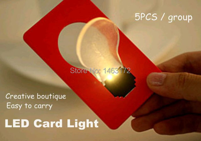 Slim Led Card Light Portable Lamp Night Color Business Cards Emergency Lights Wallet