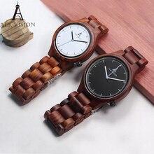 ALK Vision Мужские часы лучший бренд роскошь Деревянные часы для влюбленных пар Женские часы Кварцевые наручные часы для девочек