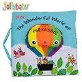 Livro de Pano do bebê Crianças Kid Educacional Toy Balão De Tecido Macio Peekaboo Inglês Aprender Livro Tranquila Para Bebês Recém-nascidos 0-12 Meses