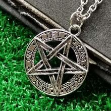 Invert Pentacle Pentagram Star Pewter Fashion Pendant Necklace For Lady Boy Man alchemist Necklace New yamaha trbx304 pewter