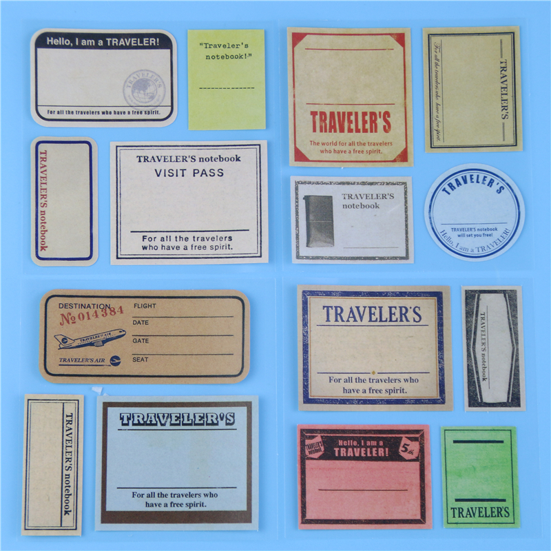 vintage travel paper stickers cum memo pads