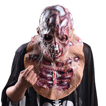 Halloween Decoration Horror Props Realistic Mask Creepy Bloody Masks for Halloween Cosplay Party Mascaras De Payaso De Terror(China)