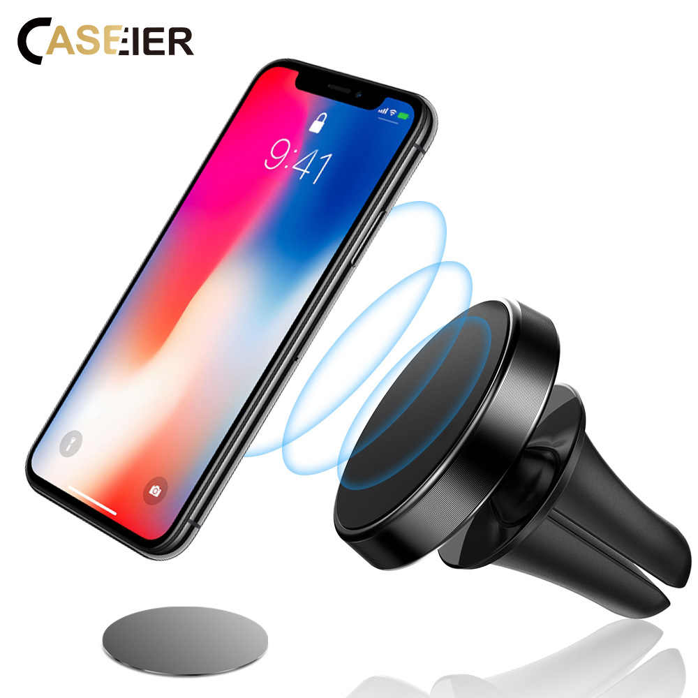 CASEIER Magnetic Car Phone Holder 360 Rotation Universal Car Holder For iPhone Samsung Huawei Xiaomi Magnet Car Mobile Support