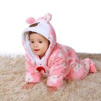 2017 Winter Warm Baby Infant Boys Clothes Pattern Girls Hooded Footie Newborn Sleepwear Kid Apparel Children