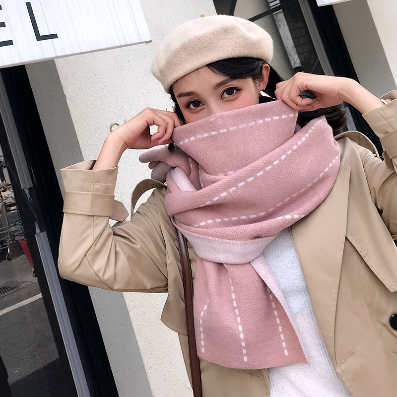 Winter   Scarf   Women 2018 New Thick Warm Cashmere   Scarf   Long Shawl 200cm*40cm Fashion and Elegant   Wrap