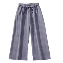 Fashion Women Wide Leg Pants Casual Loose High Waist Wide Leg Pants Summer Striped Female Pants