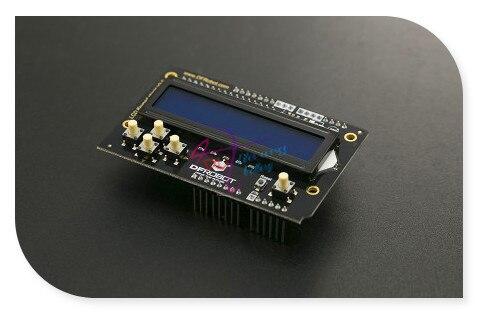 DFRobot Escudo LCD Teclado V2.0, 5 V incluem 1602/2x16 display LCD azul e 6 botões compatível com Arduino UNO/Leonardo/Mega