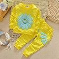 Crianças roupas definir crianças baby girl clothing flores ropa mujer esportes dos miúdos terno meninas roupas set roupas infantis YAA026