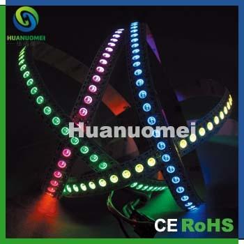 WS2811 adressable construit dans IC 2 m 144 pixels/m RGB a mené la lumière de bande avec la carte PCB, CE RoHS