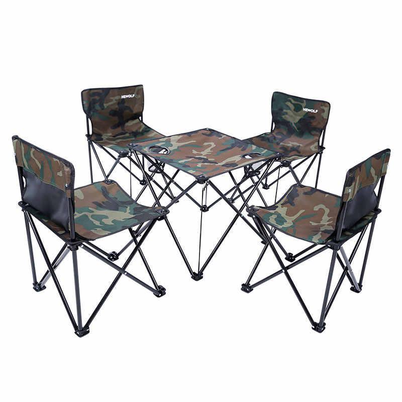 Садовые наборы стул для стола, из металла Оксфорд Быстрая доставка зеленый красный утолщение складной рюкзак для походов на природу мебель набор