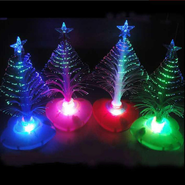 Fiber Optic Christmas Trees.Us 9 02 35 Off Kids Led Night Light Fiber Optic Christmas Trees Night Light Holiday Festival Gift Mini Colorful Color Led Small Christmas Tree In