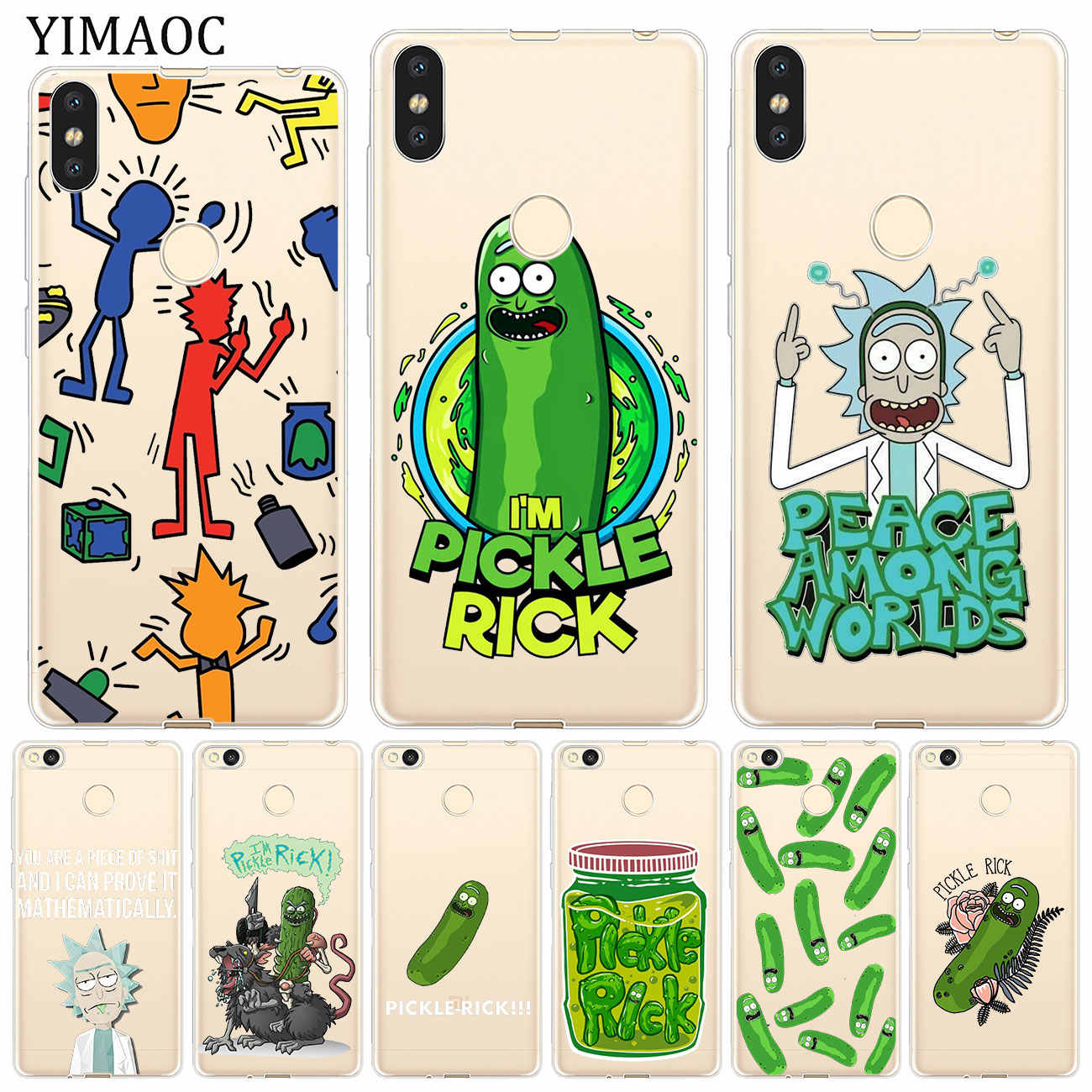 Мягкий чехол YIMAOC Rick and Morty pickle rick для Xiaomi mi 9 9T CC9 CC9E A3 Pro 8 SE A2 Lite A1 mi X 2S MAX 3 pocophone f1 mi 9 mi 8