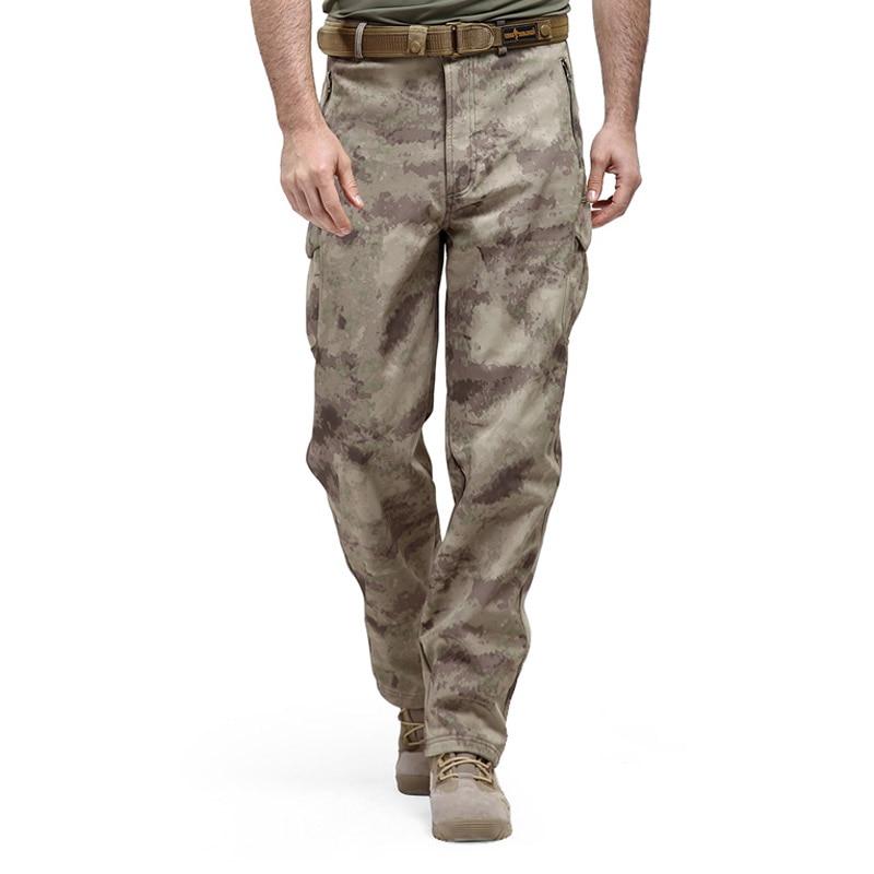 Shark Skin Softshell font b Tactical b font Military Camouflage Pants Men Winter Army Waterproof Warm