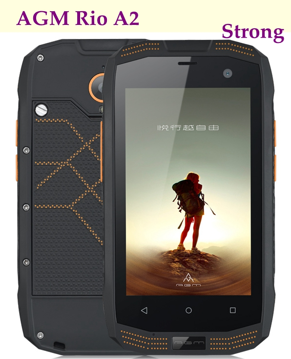 "Original AGM A2 Rio Rugged Smart Phone 4.0"" 8MP Waterproof 1.1G QUAD Core 2GB RAM 16GB ROM 4G LTE IP68 Dual SIM NFC OTG WIFI"
