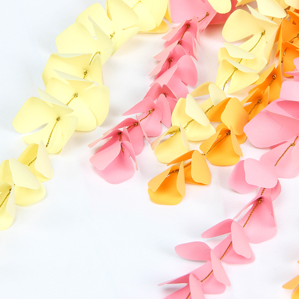 Aliexpress Buy Diy Hanging Paper Wisteria Paper Flower Garland