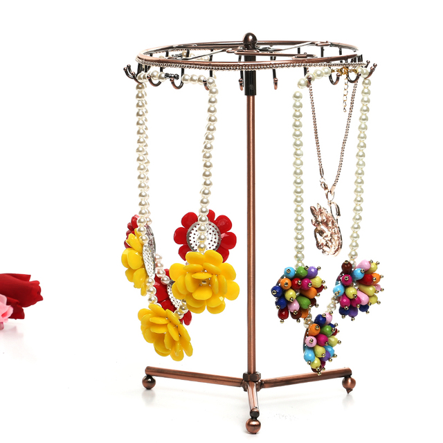40 Degree Rotating Revolving Necklace Pendant Jewelry Display Stand Magnificent Revolving Jewelry Display Stand