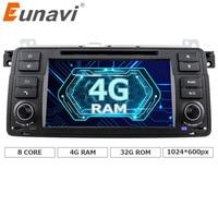 Eunavi 1 Din Octa 8 Rdzeń Android 8.0 Dla BMW E46 M3 Rover 75 samochód DVD player GPS Navi Radio RDS Canbus Wifi 4G RAM 4 GB ROM 32 GB