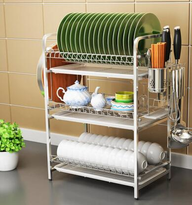 High End Three Y 304 Stainless Steel Bowl Rack Lek Racks Kitchen Plate To Put The Dishes Out Of Drain In Brackets From Home Improvement On