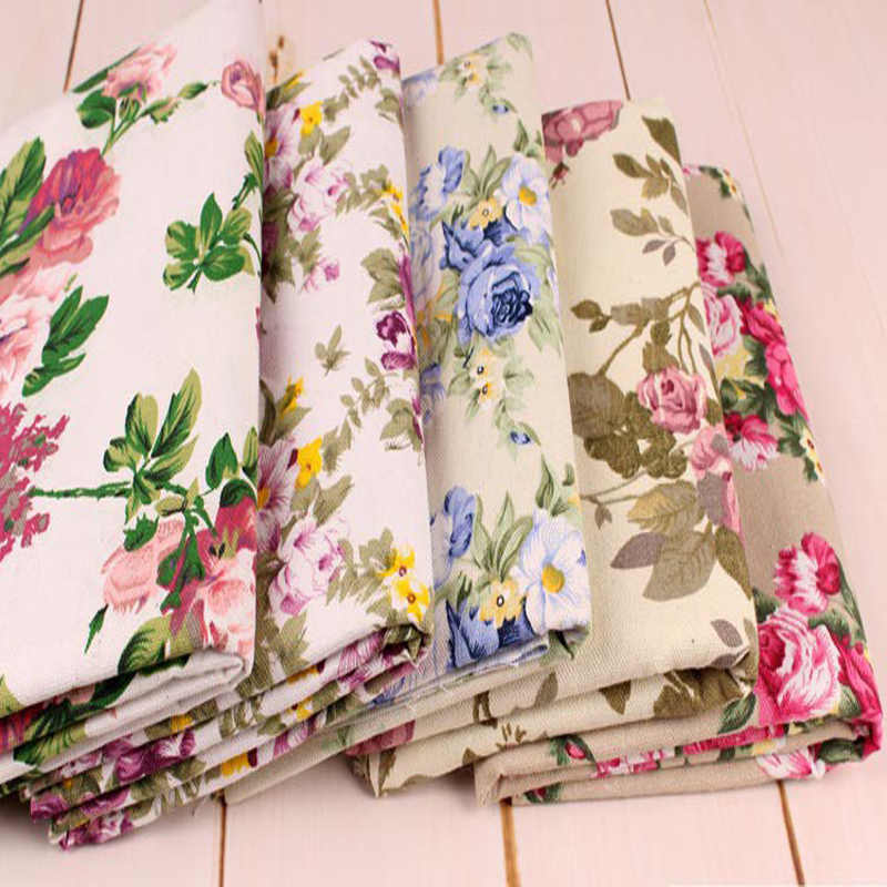 OOP Floral Quilt Sewing Quilting 18 BTHY Cotton Fabric Roses Green Brown Designer 9225 LOVE in Bloom Fresh Designs for Henry Glass /& Co