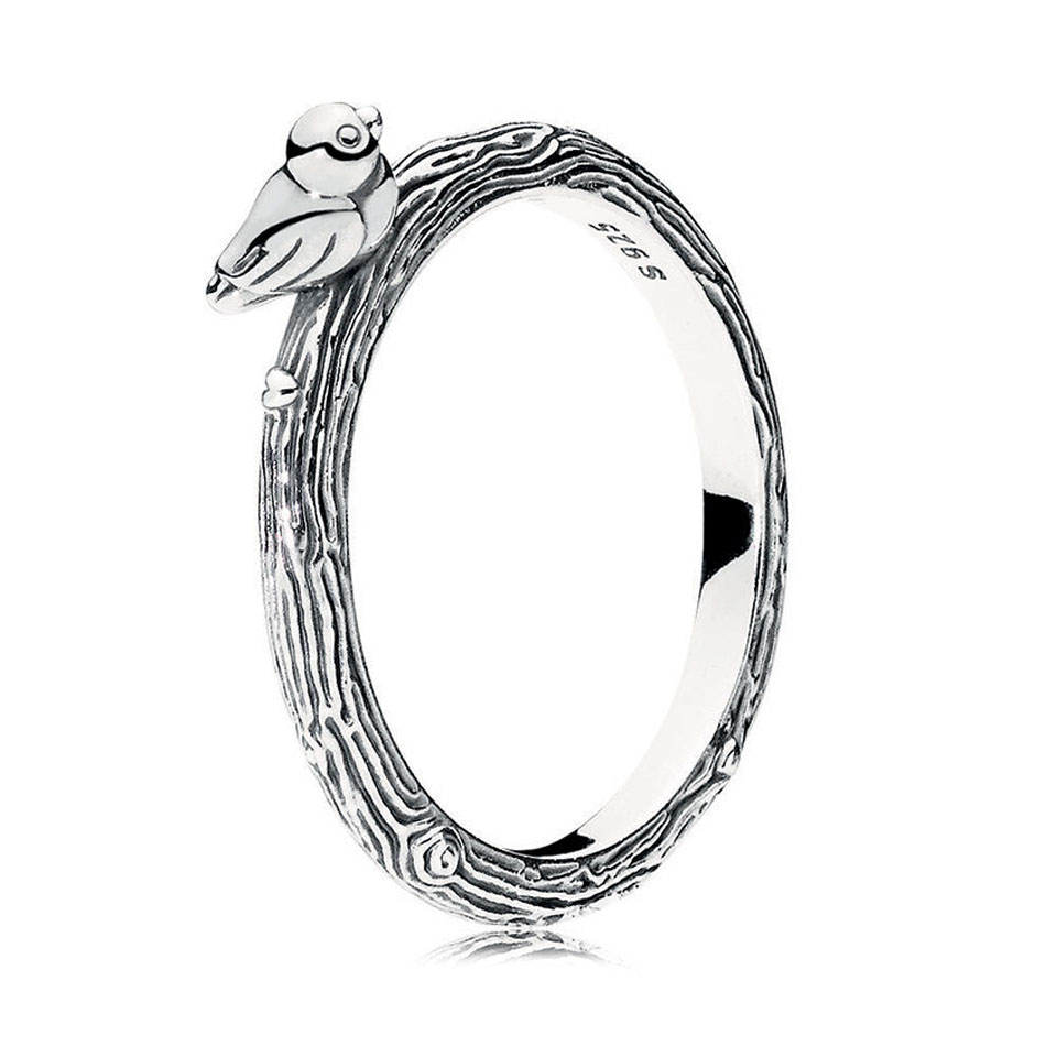 4a2965282 Detail Feedback Questions about 925 Sterling Silver Women Ring Spring Bird  Ring Girl Finger Ring Plain Simple Style fit Lady Jewelry on Aliexpress.com  ...
