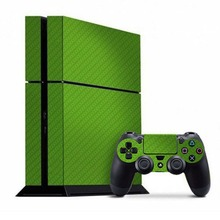 Pure Color(Pink Green ) Vinyl New Design Decals Skins Sticker For PS4 Playstation 4 Console And 2PCS Skin Decal Of Controller