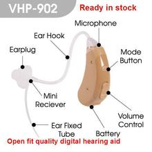 adjustable Open fit digital wireless Hearing Aid VHP-902 sound amplifier digital Hearing Aid for personal ear voice