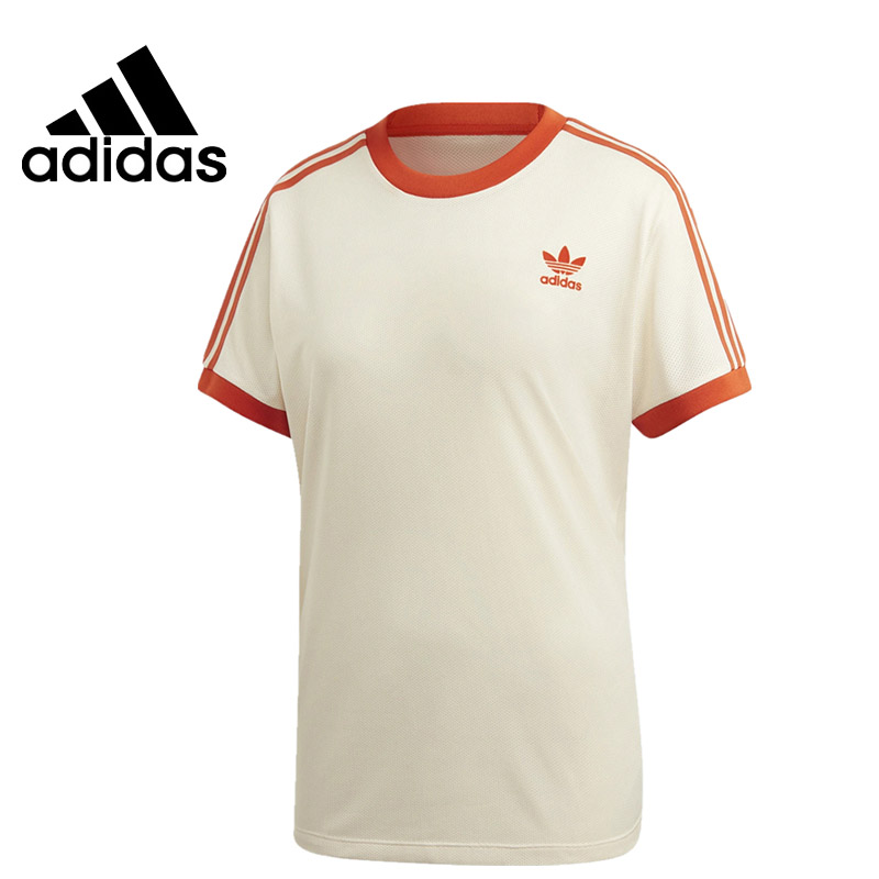 US $27.3 35% OFF|Original New Arrival Adidas 3 STRIPES TEE Women's T shirtst short sleeve Sportswear in Running T Shirts from Sports & Entertainment