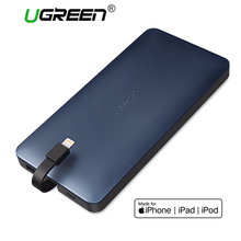 Ugreen 10000mah Power Bank Portable External Battery Powerbank with Charging Cable for Android and IOS Mobile Phones Power Bank