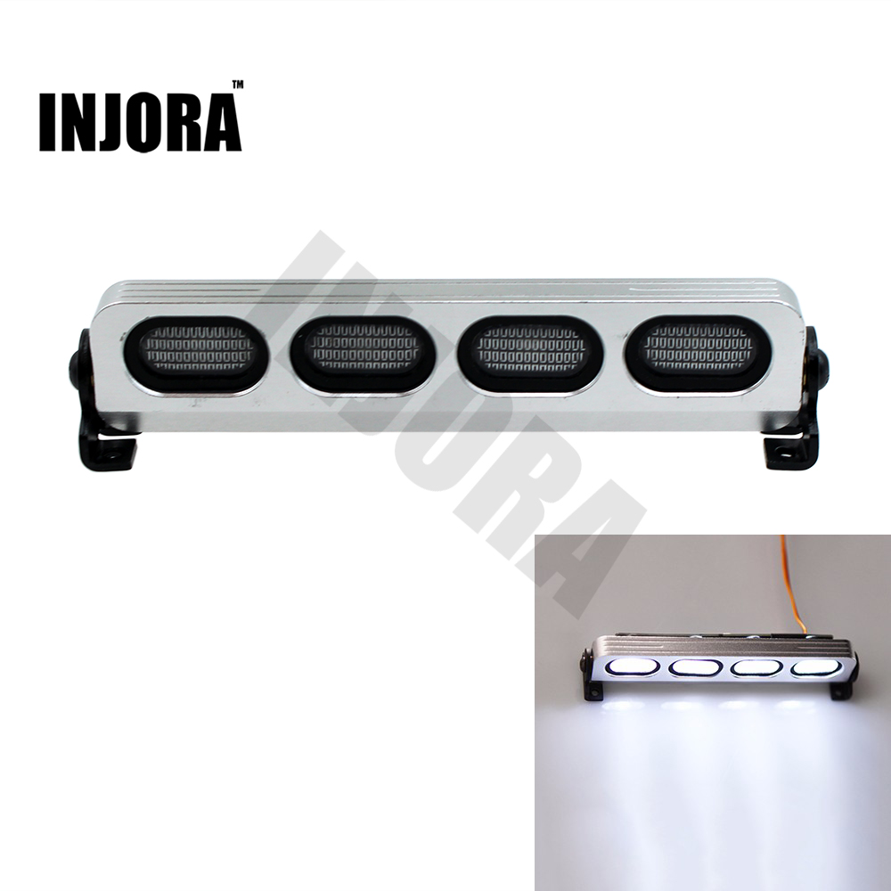 цены RC LED Roof Light Bar for 1/8 1/10 HSP HPI Kyosho Traxxas 4WD RC Car Monster Truck Axial SCX10 TAMIYA CC01 RC4WD D90 RC Crawler