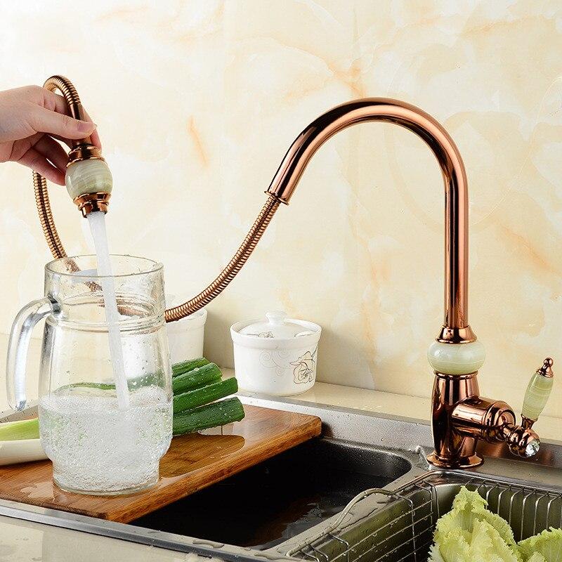 360 degrés rotation robinet buse Jade robinet cuisine pulvérisateur tête économie d'eau robinets Applications pour cuisine torneira
