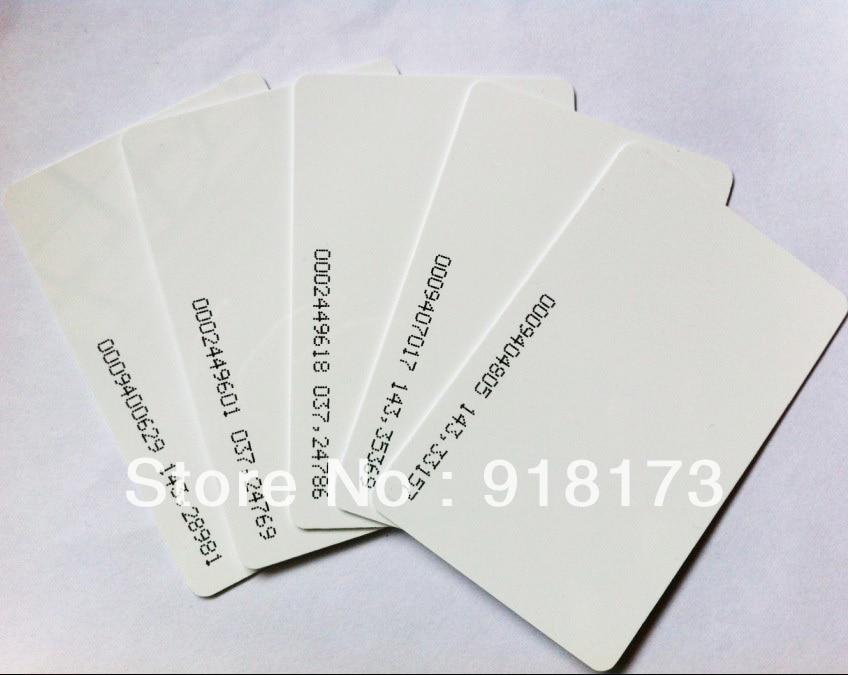 50pcs/lot TK4100 4102 /EM 4100 chip RFID 125KHz blank card Thin PVC ID Smart Card mango 103 em id thin card white 200 pcs