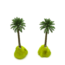 купить 1/400 4.2cm  scale palm trees with copper leaves Cocos nucifera  model palm trees for scenery train layout constructions по цене 1458.94 рублей